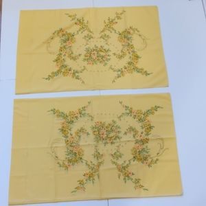 Vintage Tastemaker yellow floral pillowcases